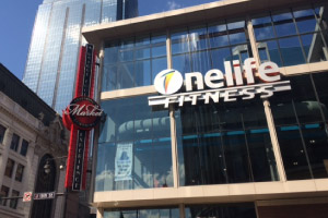 Onelife Fitness sign fabricate